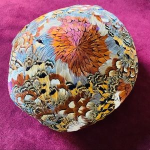 Amazingly vibrant feather hat by Urbi et Orbi 1960